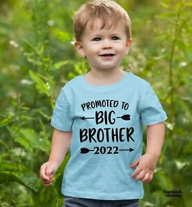 Promoted To Big Brother 2022 Kids T Shirt Big Bro Baby Announcement Sibling Tees