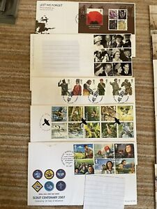 JOB LOT 18 GB FIRST DAY COVERS (FDC's) Inc BEATLES & HARRY POTTER-2007