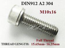10x DIN912 M10x16 A2 304 Stainless Steel Allen Bolt Hex socket head cap screw