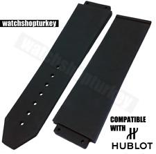 High Quality Hublot Compatible Watch Band Big Bang 24mm Black Rubber Watch Strap