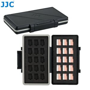 Water-Resistant Memory Card Case Storage Holder fits 30 Micro SD MSD TF Cards