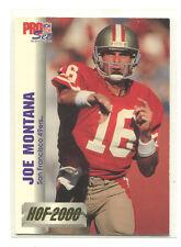 1992 Pro Set HOF 2000 #6 Joe Montana San Francisco 49ers