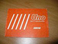 FIAT UNO 45 45S UNO 55 UNO 55S UNO 70S LIBRETTO USO E MANUTENZIONE 1983 3a EDIZ.
