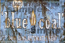 WEATHERED BUILDING SIGN HO O DECAL BLUE COAL