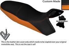 BLACK & ORANGE CUSTOM FITS KTM 1190 R ADVENTURE 13-14 DUAL LEATHER SEAT COVER