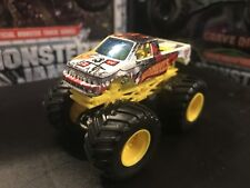 Team Hot Wheels Monster Jam Truck 1/64 Die-cast Metal White Firestorm Rare!