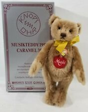 LM VINTAGE Steiff 408458 Caramel Musical Replica Mohair Jointed Teddy Bear NEW