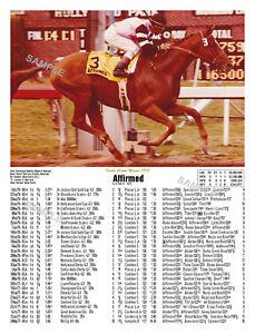 AFFIRMED TRIPLE CROWN WINNER 1978 WITH LIFETIME PAST PERFORMANCES