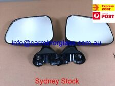 NEW DOOR MIRROR FOR TOYOTA HILUX 1988-2005 (MANUAL BLACK) PAIR