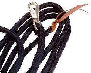 Busse Groundwork Natural Horse Training Long Heavy Lead Rope with Bull Snap 3.7m