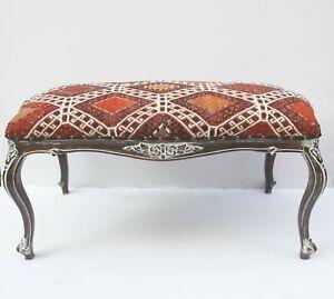 Vintage Kilim cover Ottoman,Kilim Upholstered Furnitures,coffee table furnitures
