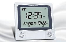 Azan Clock / Prayer Times / Qibla Direction / Hijri Calendar Wall/Table HA-4009