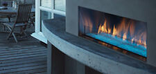 Majestic Palazzo outdoor linear fireplace w/ IntelliFire ignition, Single-Sided