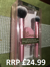 Real Techniques Makeup Brushes Foundation Concealer Powder Perfect Base Set NEW.