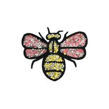 b18980ebc Pink Stone Bee (Iron On) Embroidery Applique Patch Sew Iron Badge