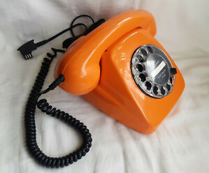 Telefon 70-er Wählscheibe Orange FeTAp 611-2 SEL Top-Zustand+volle Funktion