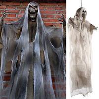 1.8m suspendu squelette Scary Ghost Skull Shroud décor Halloween accessoire