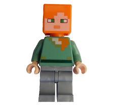 LEGO MINECRAFT Alex MINIFIGURA (min026) NUEVO MINIFIGURA NEW