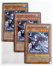 3 x CLOUDIAN - STORM DRAGON LODT-EN040 yugioh common card Fairy set NM