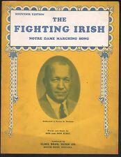The Fighting Irish 1920 Knute Rockne Notre Dame Sheet Music