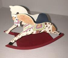 DOLLHOUSE MINIATURE WOODEN ROCKING HORSE CHAIR  #19750
