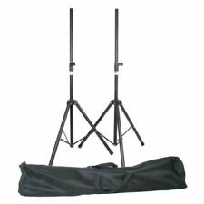 QTX Heavy Duty Speaker Stand Kit With Bag Pair PA Speaker Mobile DJ