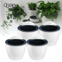 Home Garden Wall Fence Hanging Planter Plant Flower Pot Basket Decoration 4pcs