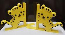 Baby Tiger Cub Bookends - Nursery-Childrens Bedroom - Safari Animals-3D Printed.