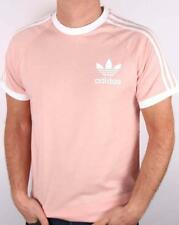 Adidas Originals Men's Tee Shirt  Pink/White Crew Neck CLFN Style BQ5371