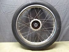 1977 Honda Express NC50 OEM Front Wheel Tire and Rim 14 Inch Spokes Hub  B137