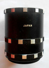 AUTOMATIC EXTENSION TUBE SET FOR VINTAGE PENTAX CAMERA JAPAN