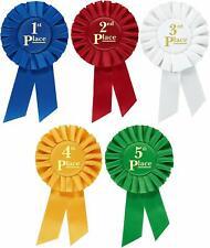 Rosette Premium Award Ribbons 1st 2nd 3rd 4th 5th Place Multipurpose Set