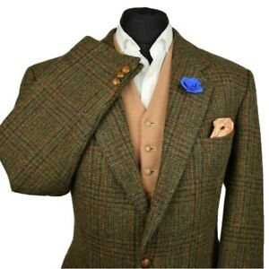 Harris Tweed Tailored Country Checked Blazer Jacket 42R #939 GORGEOUS CLOTH