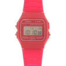 Retro Genuine Casio Pink F-91W Resin Classic Retro Digital Watch Alarm Stopwatch