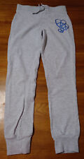 CANYON RIVR BLUES M(10/12) GRAY PULL ON STRETCH BAND PANTS W/PEACE HEARTS #4G