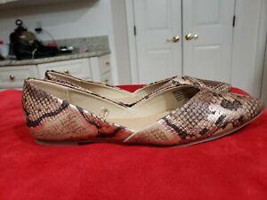 Time and Tru Women's Snake Skin Print Point Toe Ballet Flat Shoe Choose Sz. NEW