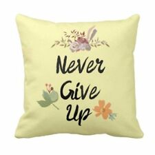 Never Give Up Home Decor Throw Pillow Cover Sofa Couch Bed Cushion Case