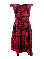Calvin Klein Women's Off-The-Shoulder Brocade Fit & Flare Dress