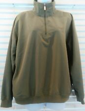 Women's Olive Green Izod Pullover Windbreaker Size Medium Golf Shirt Woven Poly