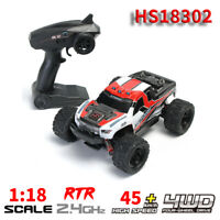 HS18302 1:18 Scale 45km/h High Speed Racing Car 4WD 2.4GHz RC Vehicle Toy RTR