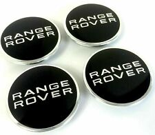 4 Cache Moyeu Range Rover Logo Centre De Roue Noir 63mm