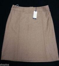 Knee Length Wool Blend A-line Skirts for Women