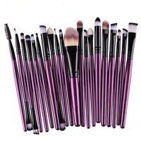 20PCS Pro Make up Brushes Set Foundation Eyeshadow Eyeliner Powder Kabuki Style