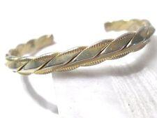 """CONTEMPORARY CUFF BRACELET """"S"""" LINK ETCHED TEXTURED NICE LOOKING"""