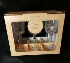 Set of 6 Williams Sonoma Duraclear 9 oz Wine Goblets. Durable clear glasses. NIP