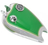 Réservoir de carburant avec la protection et la peinture verte Chrome Bsa C11 Ro