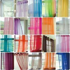 Прозрачный тон тонкая вуаль стеновых панелей ламбрекен сетка тюль ткань разноцветный 140x260 см