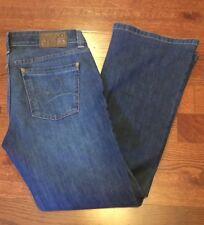 "DL1961 Women's Size 29 Andi Blue Denim Jeans Crush 4Way Stretch 29"" Inseam Boot"