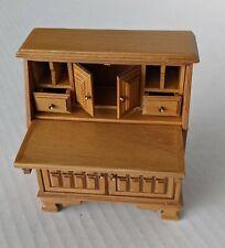 Handsome Carved Desk Cabinet Quality Dollhouse Furniture Miniature
