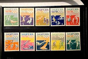 Albania Stamps1964  Olympic Game  Tokyo  MI: 859-868  MNH